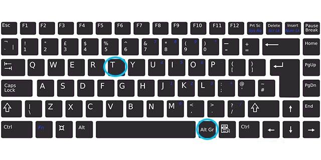 tl simgesi klavyede nasıl yapılır
